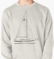 Dana 24 sail plan T shirt (printed on BACK) Pullover