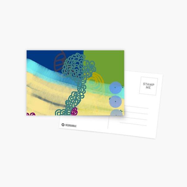 Blue Fusia Postcard