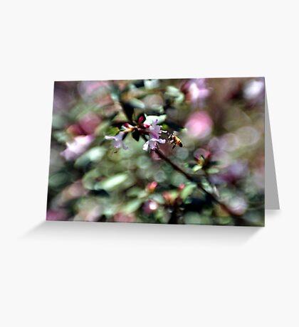 Bee Line Greeting Card