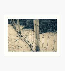 Green's Pool Fence Art Print