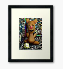 Moroccan Portrait with Pudge Framed Print