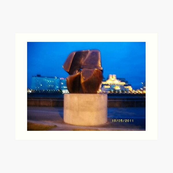 Sculpture: Henry Moore: Interlocking forms -(180511)- digital photo Art Print