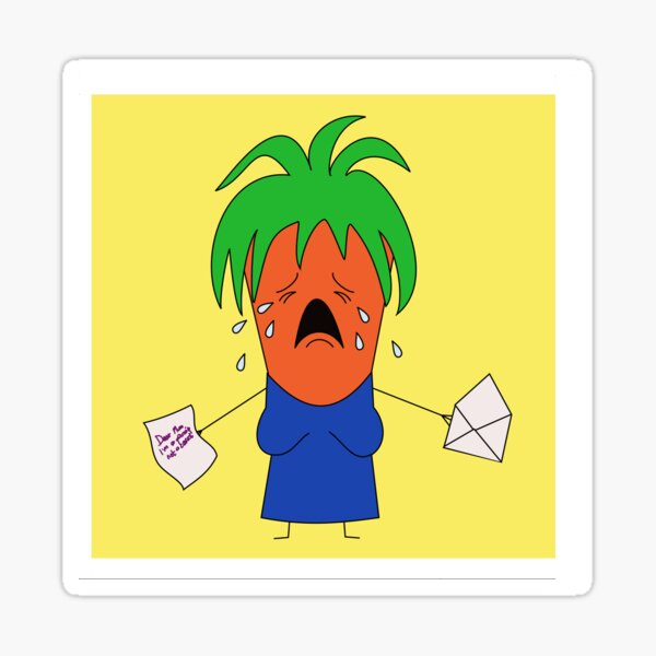 Crying Mummy Carrot Sticker