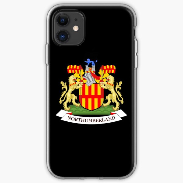 Northumberland Flag Stickers, Gifts and other Products iPhone Soft Case