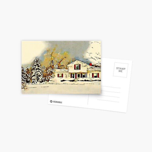 Christmas in the Country Postcard