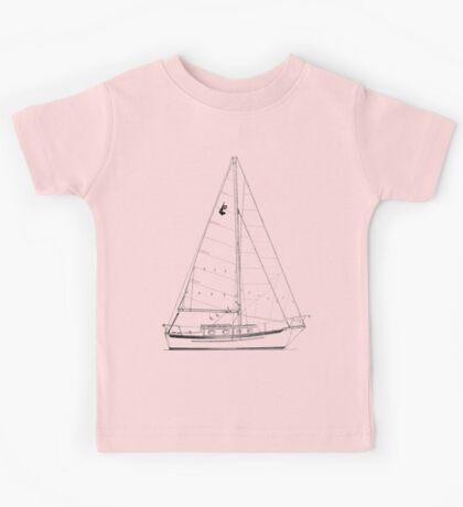 Dana 24 sail plan T shirt (Printed on FRONT) Kids Clothes