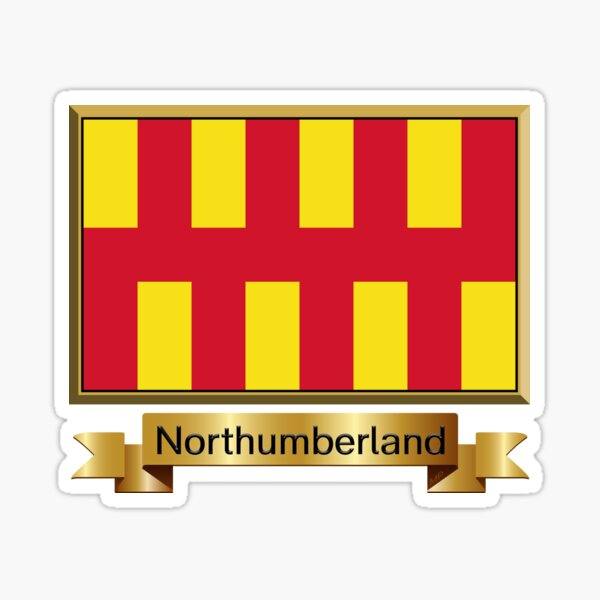 Northumberland Named Flag Stickers, Gifts and Products Sticker