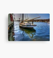 The Sloop Nellie at Mystic  Canvas Print
