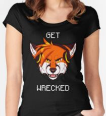 GET WRECKED - Fox Women's Fitted Scoop T-Shirt