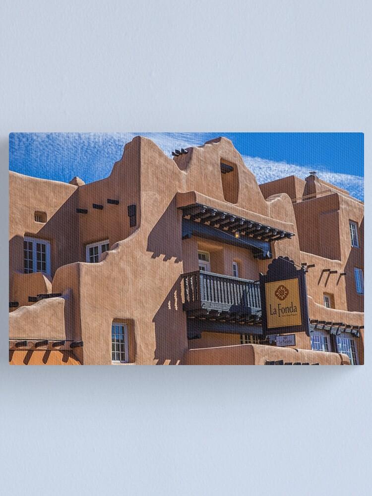 Alternate view of USA. New Mexico. Santa Fe. Adobe Architecture. Canvas Print