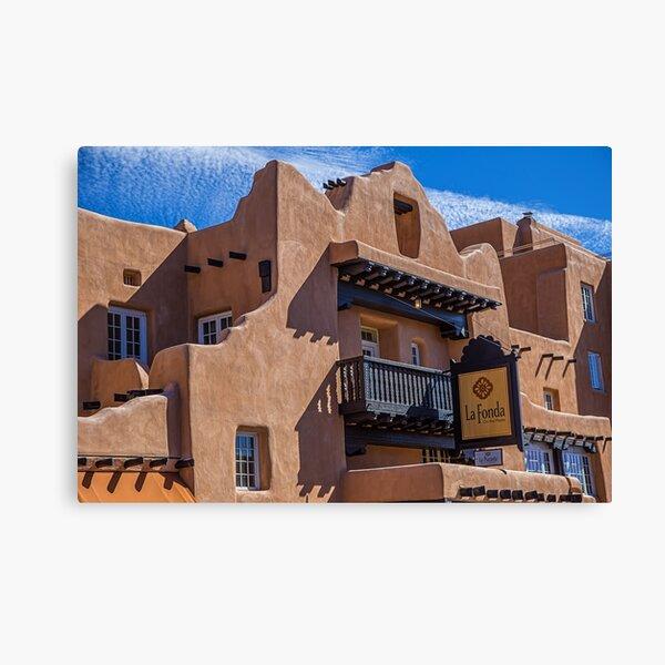 USA. New Mexico. Santa Fe. Adobe Architecture. Canvas Print