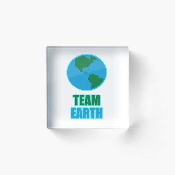 Team Earth Climate Activists Acrylic Block