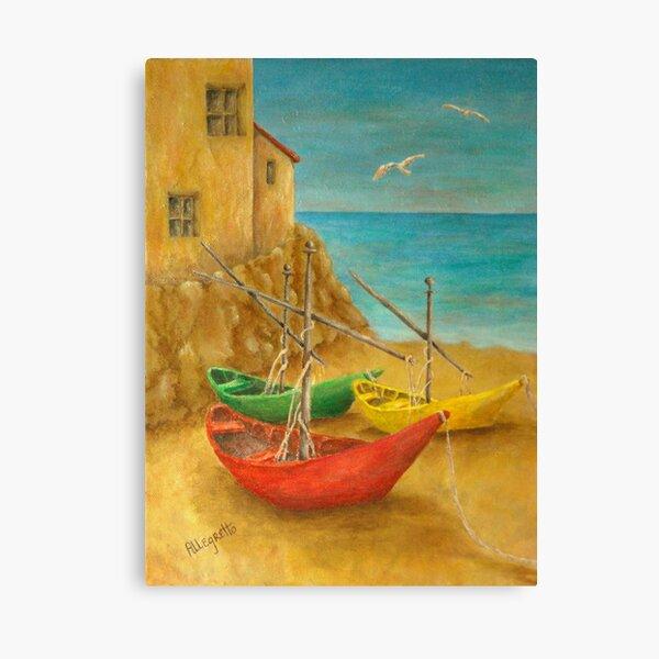 Monterosso On Riviera Di Levante Canvas Print