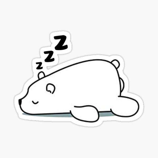 Lazy Polar Bear Sticker Sticker