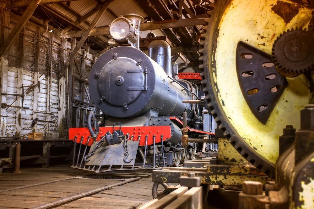 Yarloop steam workshops, Western Australia by Marc Russo