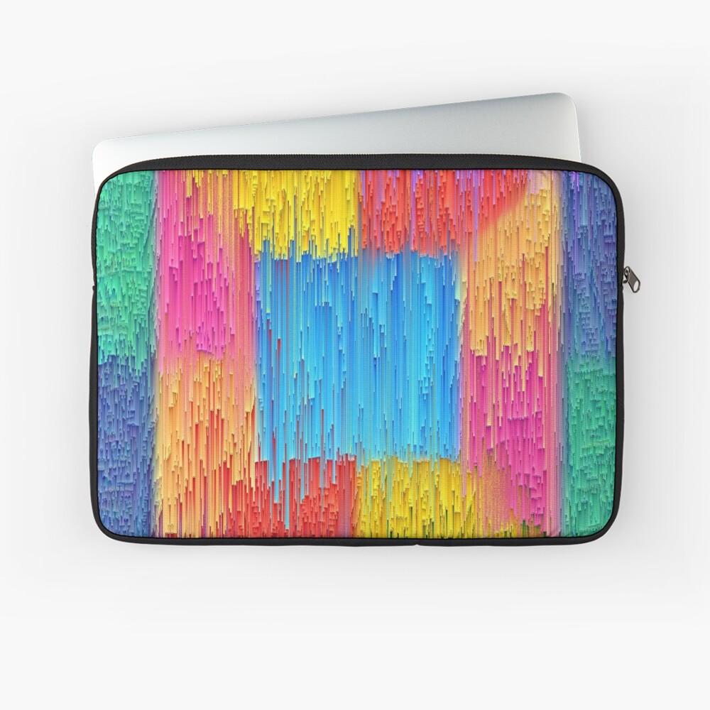 DeepDream Color Squares Visual Areas + pixel sort Laptop Sleeve