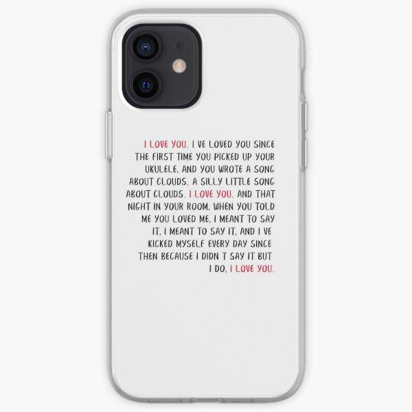 i love you speech HSMTMTS iPhone Soft Case