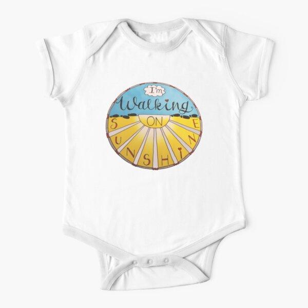 I'm Walking On Sunshine Short Sleeve Baby One-Piece