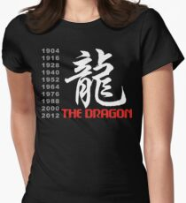 Chinese Zodiac Dragon Women's Fitted T-Shirt