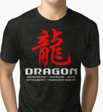 Chinese Zodiac Dragon Characteristics Tri-blend T-Shirt