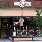 Cranky Jeff's Bike Shop by David Owens