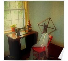 Sunny Sewing Room Poster