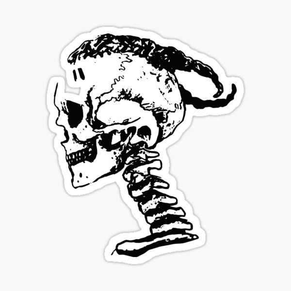 xxxtentacion Skull Logo Sticker