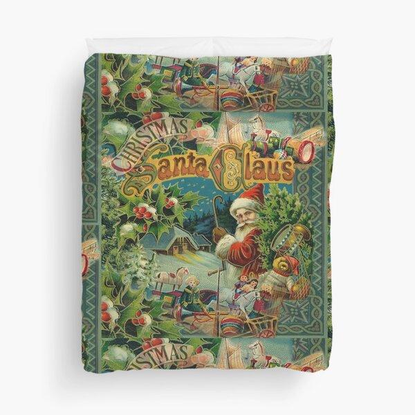 Christmas Santa Claus Victorian Antique Vintage Duvet Cover
