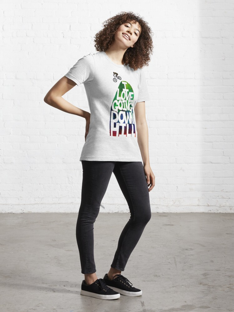 Alternate view of I Love Going Downhill (White) Essential T-Shirt