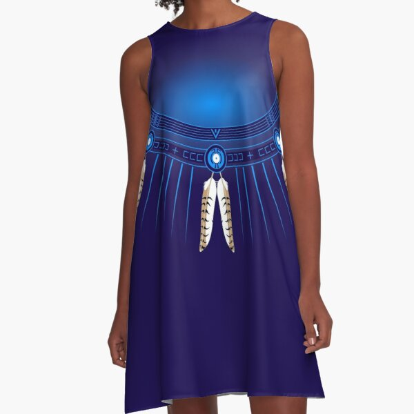 Crazy Horse Circle  A-Line Dress