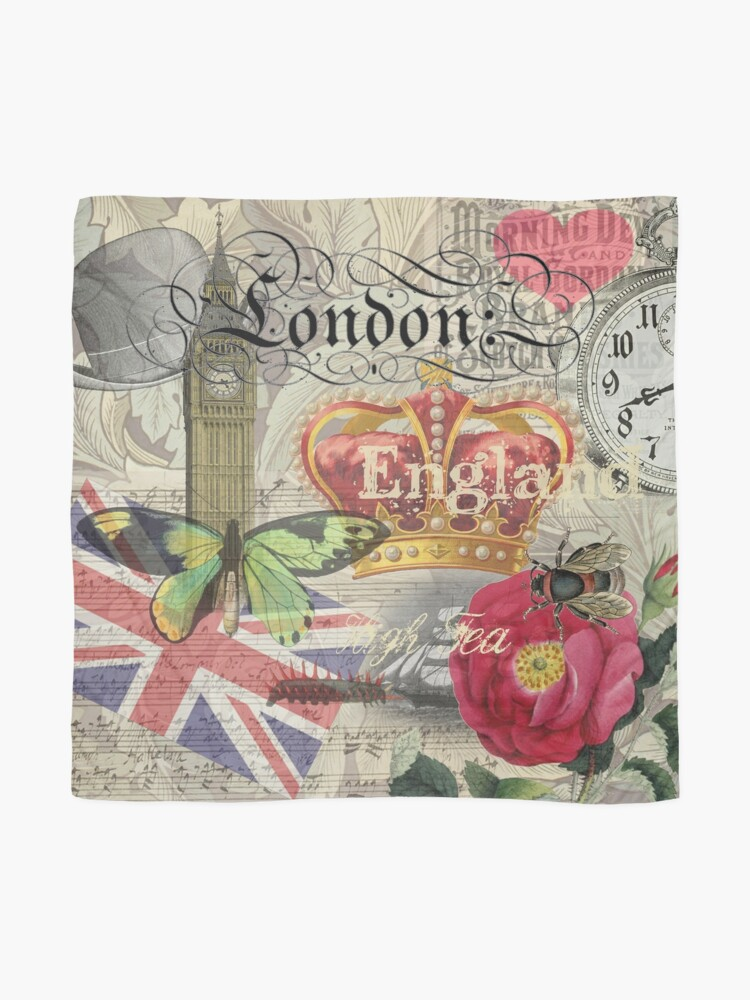 Alternate view of Travel London England Vintage British Gift Europe  Scarf