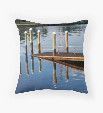 Pier-iod Illusion Throw Pillow