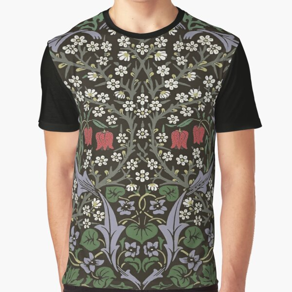 William Morris Blackthorn Tapestry Art Print Floral Pattern Graphic T-Shirt