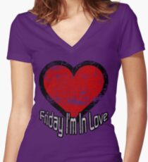 Friday I'm In Love Women's Fitted V-Neck T-Shirt