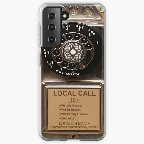 phone antique rotary dial pay telephone booth Samsung Galaxy Soft Case