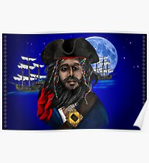 Pirate and Ship Poster
