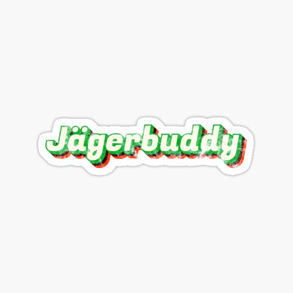 Logotipo vintage Jagerbuddy 70s Pegatina