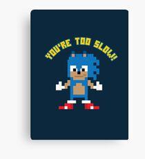 8Bit Sonic Canvas Print