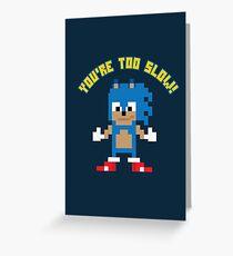 8Bit Sonic Greeting Card