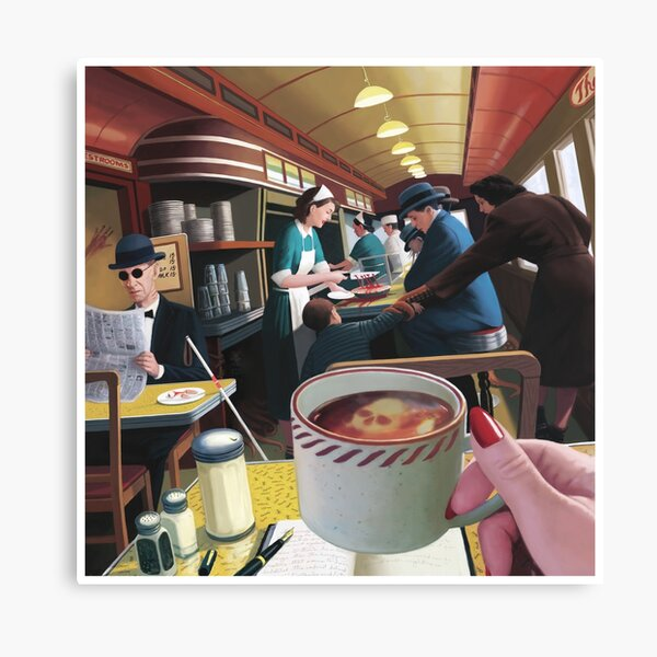 Blue Plate Special by Jeff Lee Johnson Canvas Print