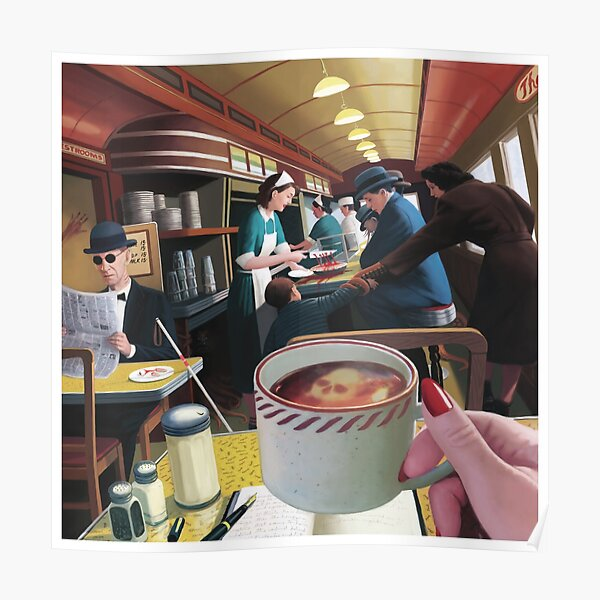 Blue Plate Special by Jeff Lee Johnson Poster