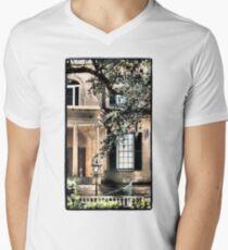 Black Men's V-Neck T-Shirt