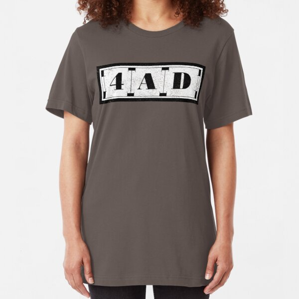 4AD (distressed design) Slim Fit T-Shirt