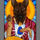 St. Malinois (Light Fawn Version) by malinoodle