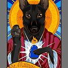 St. Malinois (Black Version) by malinoodle