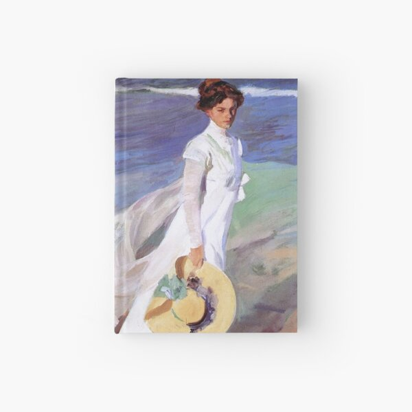 Joaquin Sorolla Women Walking on the Beach Impressionist Painting Hardcover Journal