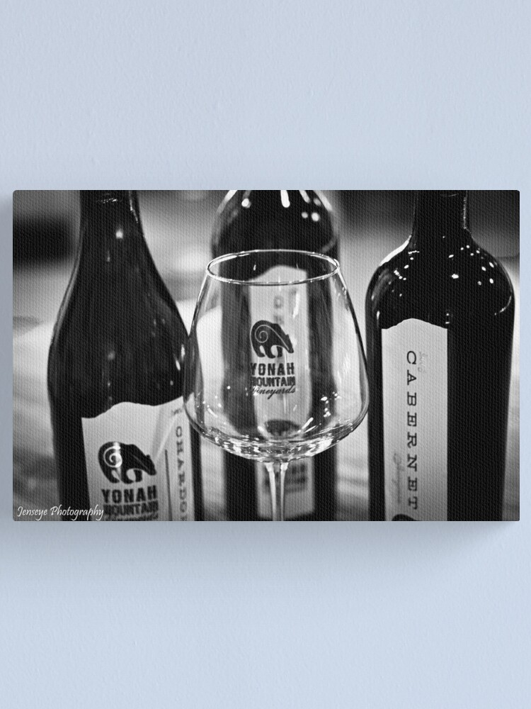 Alternate view of Yonah Mountain Wines black and white Canvas Print