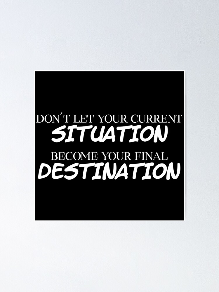 Inspirational//Motivational Poster//Don/'t let anything stop you//Sayings//Quotes