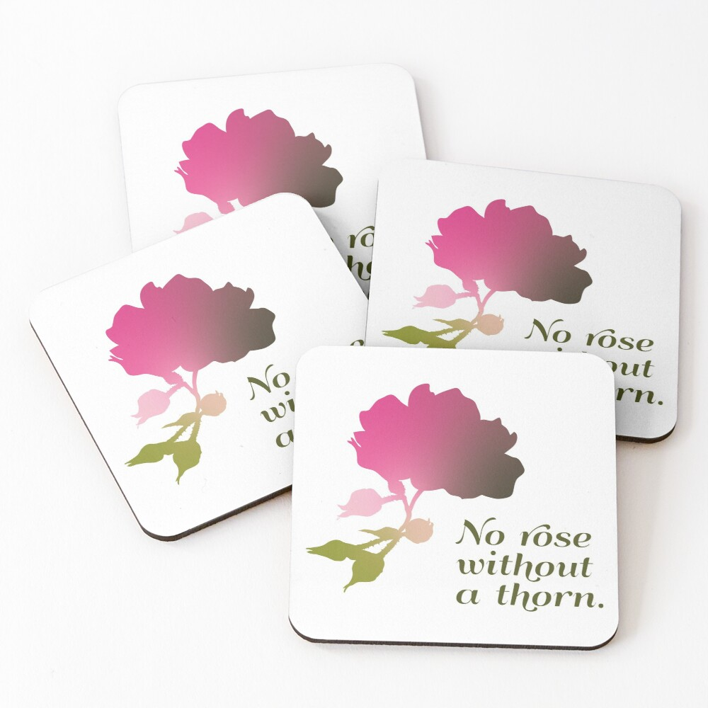 No rose without a thorn Coasters (Set of 4)