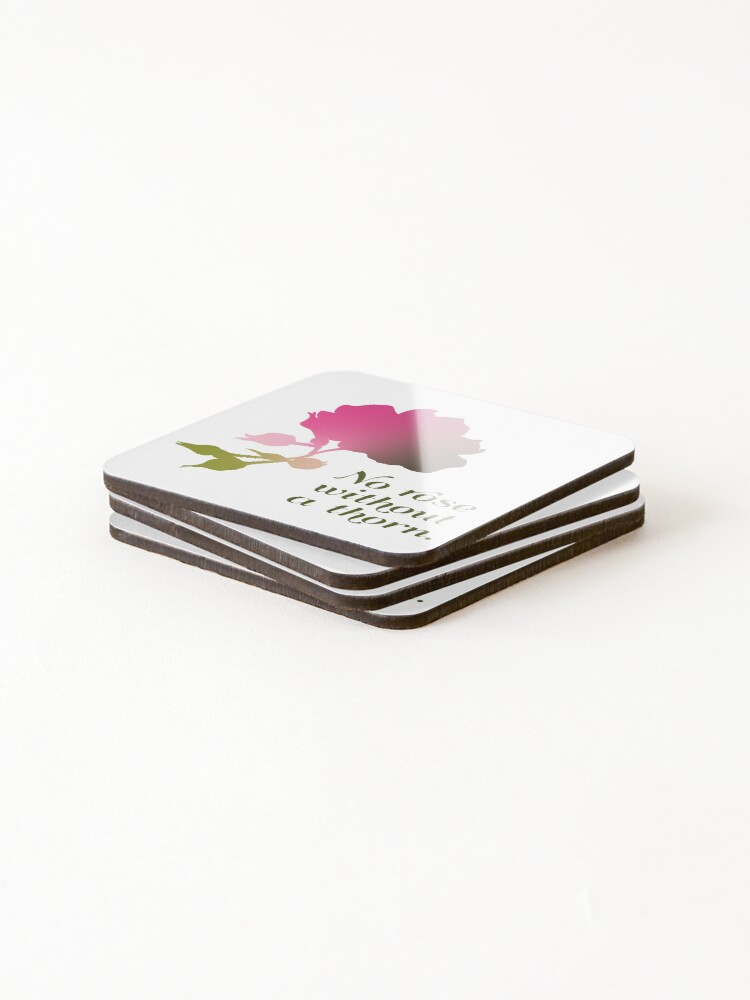 Alternate view of No rose without a thorn Coasters (Set of 4)